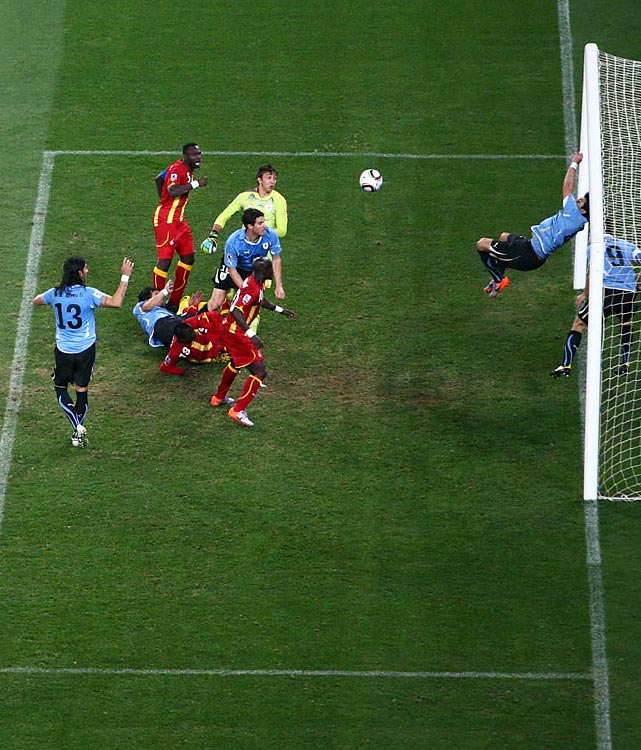 Uruguay's star striker Luis Suarez was a hero of sorts as he ended up saving his team from a defeat at the end of extra time with a blatant and deliberate handball on the goal line.