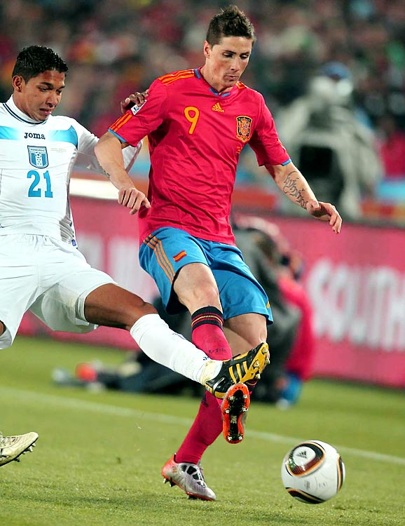 Spain's golden boy Torres has also yet to score, but at least has the excuse of only just having recovered from knee surgery a week before the tournament started. It's been obvious to observers that he's clearly not close to match-fit.