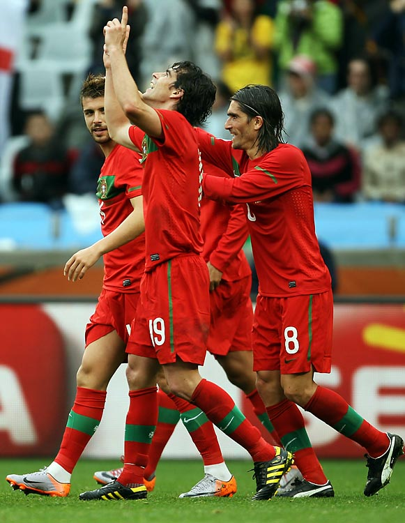 Goals were hard to come by early in the tournament, but Portugal had no such problems in its second match, against North Korea. Portugal exploded for six second-half goals in a 7-1 victory. Tiago scored twice in the second half, the only Portugal player with more than one goal.