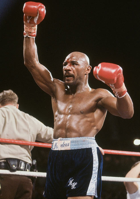 "The undisputed world middleweight champion from 1980 to 1987, Hagler was raised in Newark but moved to Boston at the age of 13 following the famous Newark Riots. The ""Marvelous"" one is no stranger to the camera as he has found a second career as an action movie star in Italy."