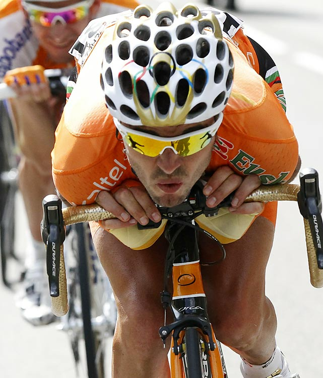 The 2008 Olympic road race champion (see the helmet design) put together his second straight strong Tour with a fourth-place finish. Sanchez had an off day in the final time trial to fall off the podium, but he entrenched himself in the pack behind Schleck and Contador moving forward.