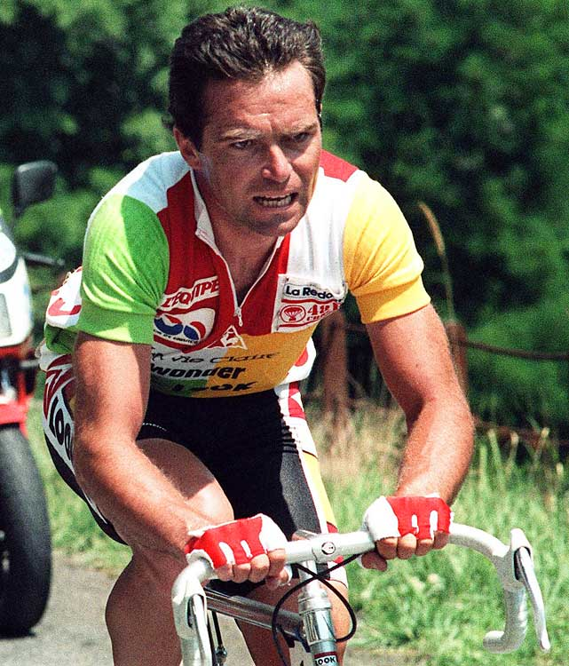 Hinault, perhaps the greatest French cyclist of all time, is the only man to win all three Grand Tours multiple times. He was most decorated in his native country, however, winning in his Tour debut in 1978 and repeating the next year. The hopes of a nation built up, but Hinault dealt with the pressure with fine form. If not for knee problems, he may have won six straight Tours (he retired while wearing the yellow jersey in 1980 and missed it altogether in 1983). Hinault gave way to teammate Greg LeMond, perhaps unceremoniously, by the late '80s.