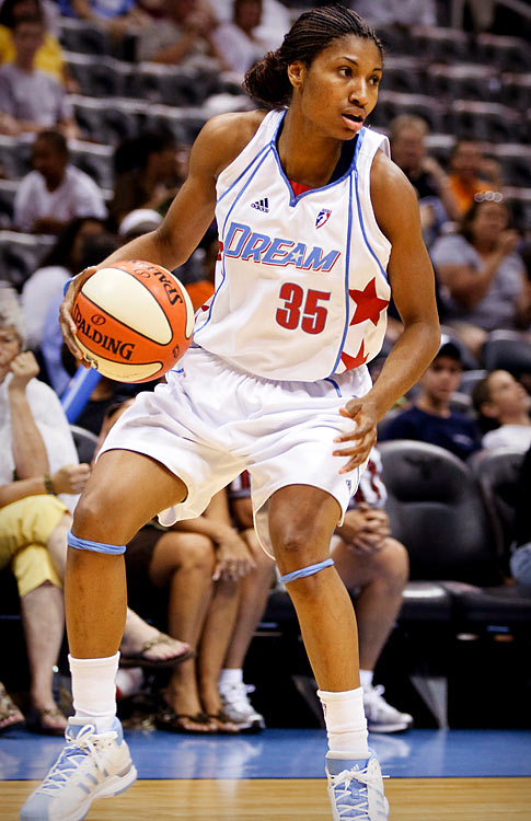 The 6-foot-1 forward Angel McCoughtry has become a bonafide scoring threat in her second season with the Dream. After only starting 10 games last year, McCoughtry has developed into the go-to scoring threat on a young Atlanta squad off to a surprising start. Her breakout game came on May 21 against conference foe Connecticut, when she scored 32 points and grabbed 10 rebounds in a 97-82 victory.