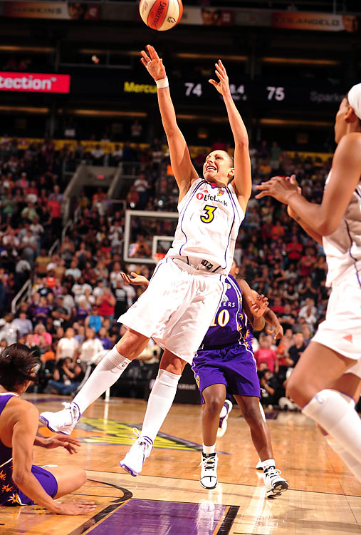 Diana Taurasi, last season's MVP, started the season off slow with 13- and 14-point performances in her first two games. She busted out with 35 points in her next game against Tulsa and hasn't slowed down. She has scored at least 30 points in seven games this season, including a 44-point outburst in a triple-overtime loss to Seattle on July 11.