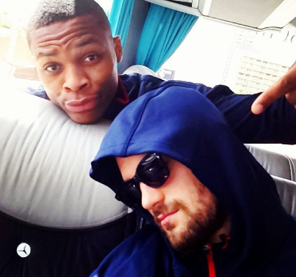 Team USA would have the last laugh, however, as Deron Williams tweeted this photo of Love fast asleep on the team bus.