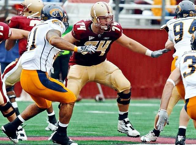 A potential first-round NFL draft pick in 2011, Castonzo has started all 41 games since arriving at Boston College. He was an All-ACC first team selection last season.