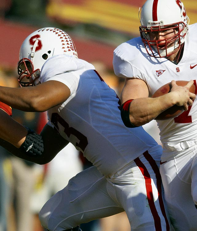 In 11 starts at left tackle as a redshirt freshman, Martin proved himself adept at protecting Andrew Luck's blind side and helped pave the way for Heisman runner-up Toby Gerhart to rush for 1,871 yards and 28 touchdowns.