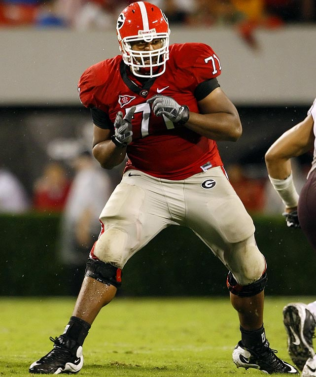 Big (6-foot-5, 330 pounds) and versatile, he has played right guard, left tackle and left guard.