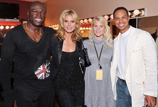 Elin and Tiger with Seal and wife Heidi Klum.  Both Klum and Nordegren are European exports; Klum from Germany and Elin from Sweden.