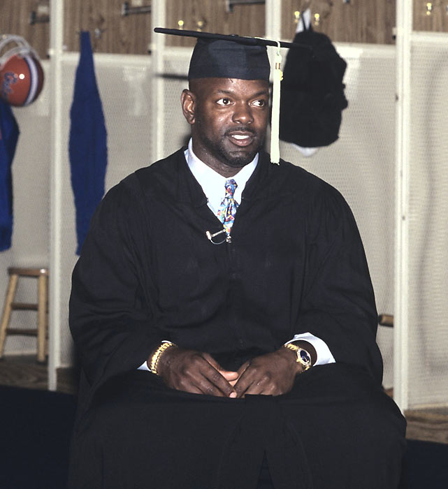 Although he left Florida after his junior season, Smith went back and earned his bachelor's degree in Public Recreation.