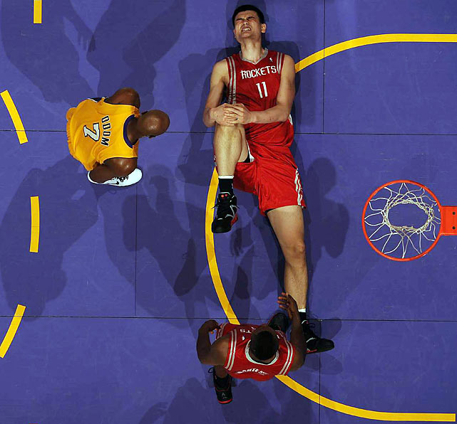 The current tallest player in the NBA, Yao Ming has been a sensation when healthy, providing the Houston Rockets with the go-to post game that's often necessary to win a championship. But health has been a problem for Yao lately. And wouldn't you know it -- it's his foot's fault.  His latest ailment, a hairline fracture in his left foot that required surgery in the offseason, might even cut Yao's career short.  The former Shanghai Shark has only averaged 59 games over the last four seasons.