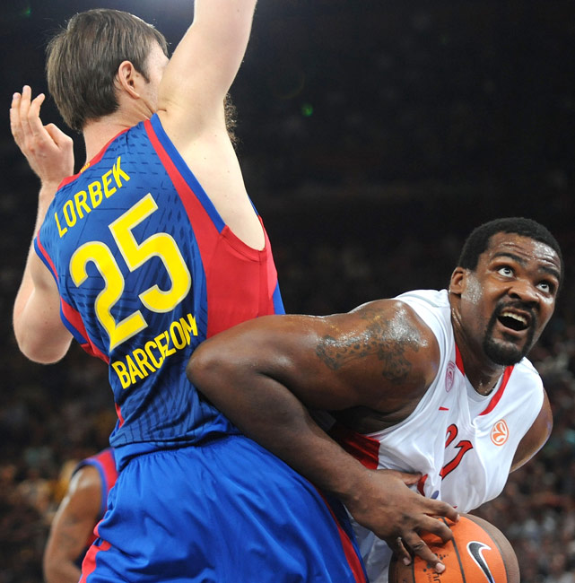 """Known as """"Baby Shaq,"""" Sofoklis Schortsanitis is not only one of the biggest players at the tournament (6-foot-10, roughly 370 pounds), but also one of the best. Known as a bruiser, Schortsanitis was drafted by the Los Angeles Clippers in 2006, but has declined to come to America and elected instead to play in Europe. """"Baby Shaq"""" currently plays for Maccabi Tel Aviv, but in 31 games with Olympiacos last season he averaged 9.0 points and 3.4 rebounds in just 13.4 minutes."""