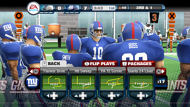 With last year's Madden NFL 10, EA Sports' developers rebuilt the engine from the ground up. For the first time, a Madden game for the Wii felt like a Madden game made for the Wii, and not just a port of a game designed for a more powerful console. It fully embraced arcade-style gameplay rather than emulate its hyper realistic PS3 and Xbox 360 counterparts. Madden NFL 11 could have been an improvement by moving forward in that committed new direction, but seems instead to regress into an identity crisis. It's neither realistic, nor NFL Blitz; merely stuck somewhere in between. A new GameFlow option -- where plays are called for you based on down and distance -- is a major bust, with seemingly no concept of real-life game situations. There's no shortage of game modes -- the 5-on-5 mode is fun with a friend and the Franchise mode is deep by any standard -- but how much fun can you expect when the core gameplay is such an uneven disappointment?  Score: 6/10