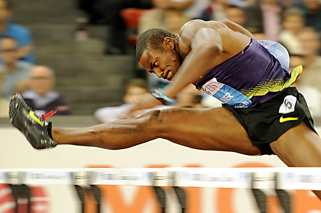 David Oliver of the U.S. clears a gate to win the men's 110-meter hurdles at the Diamond League Weltklasse meet on Aug. 19 in Zurich.