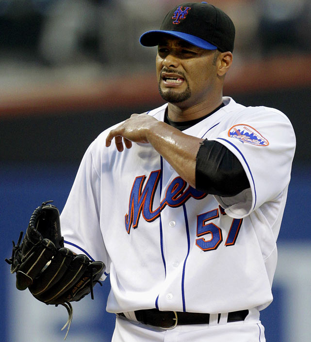 Former ace Johan Santana, who had been solid but not spectacular in his three years with the club, has shoulder surgery in September 2010 that was expected to keep him out of action for at least the first half of the 2011 season. He would miss the entire season.  The two-time Cy Young winner while with the Twins has battled injuries since joining the Mets in 2008.