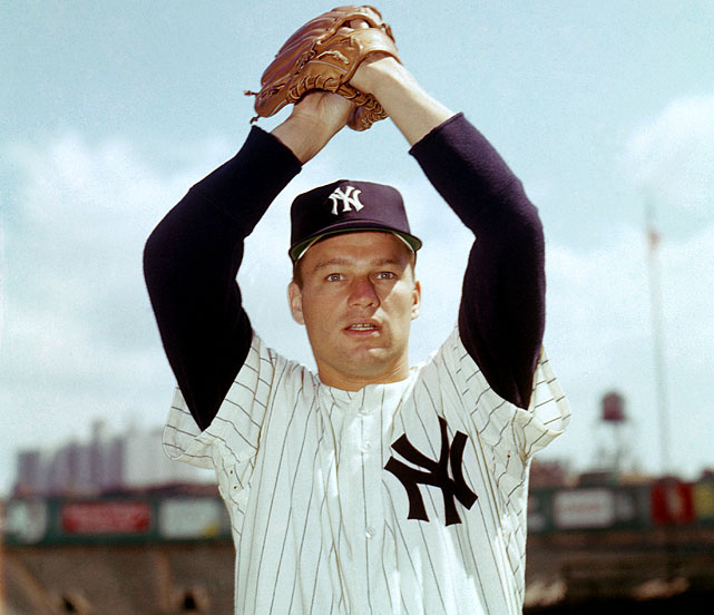Bouton had won 46 games, had a 3.03 career ERA, made an All-Star team and helped the Yankees win three pennants by age 25. By 31, he had won just 15 more games and his career was over, due to a series of arm injuries. He became most famous for his tell-all book Ball Four about life in a major league clubhouse. He briefly returned to the majors in 1978, pitching five games for the Braves and winning one before retiring for good.