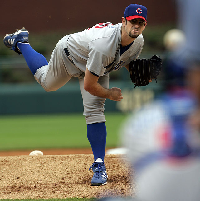 The No. 2 overall pick in the 2001 draft, Prior showed great promise as a 21-year-old rookie for the Cubs in 2002, going 6-6 with a 3.32 ERA. He was terrific the next season, posting an 18-6 mark to go along with a 2.43 ERA and 245 strikeouts, making the NL All-Star team and finishing third in the Cy Young voting. But his innings had jumped by more than 100 (including postseason play) and his arm and shoulder started to break down. He made 21 starts in 2004, 27 in 2005 and just nine in 2006, pitching his last major league game that August at age 25.