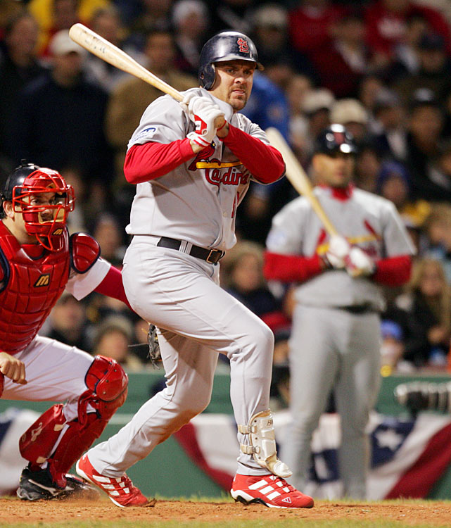 Acquired from the Rockies on Aug. 6, the 37-year-old Walker not only proved that he could rake at sea level over the remainder of the regular season (.280/.393/.560), but he was a key bat in the lineup as the Cardinals won their first pennant since 1987. Walker hit .293/.379/.707 in the postseason with six home runs and 11 RBIs and was St. Louis' leading hitter in the World Series, though the Cards were swept by Manny Ramirez's Red Sox.