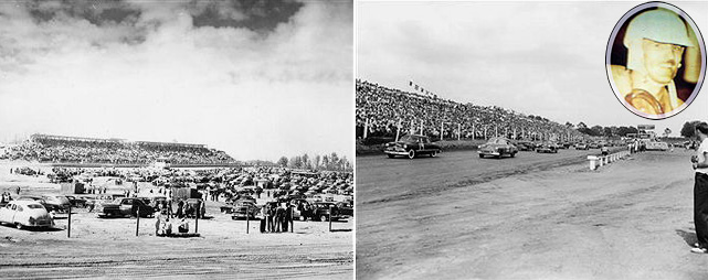 "In just its second year of existence as a sanctioning body, NASCAR introduced its newest division,  ""Strictly Stock,"" on June 19, 1949, on a three-quarter mile dirt track in Charlotte. Glenn Dunaway crossed the checkered flag first in his Ford, but was disqualified after officials noticed he had tampered with the front springs. That gave Jim Roper (inset) his one and only NASCAR victory in a Lincoln, collecting $2,000 for his troubles -- about the cost of one set of racing Goodyear tires today.  (Send comments to siwriters@simail.com)"