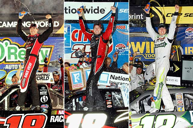 "When Kyle Busch pulled into Victory Lane on Aug. 21, he made history as the first man to sweep three races at one track in NASCAR's top three divisions. Going 2-for-2 in Trucks and Nationwide, respectively, Busch survived a thrilling 500-lapper in Cup despite the disgust of rival Brad Keselowski, who called him ""an ass"" in driver intros hours after being wrecked at the hands of Busch's back bumper for the lead in the Nationwide race. The Cup victory was Busch's 78th in NASCAR's top three series as he looks to nail another first: beating Richard Petty's total of 200 Cup victories.  (Send comments to siwriters@simail.com)"