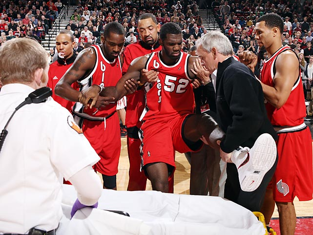 When the Blazers selected Oden with the first pick in the 2007 draft, ahead of Kevin Durant, they didn't expect three seasons and four injuries (right knee surgery in 2007, foot injury in 2008, chipped kneecap and fractured left patella in 2009) to sideline him. Oden has sat out since Dec. 5 of last year after having knee surgery. It's unclear whether Oden will be ready for Portland's season opener.