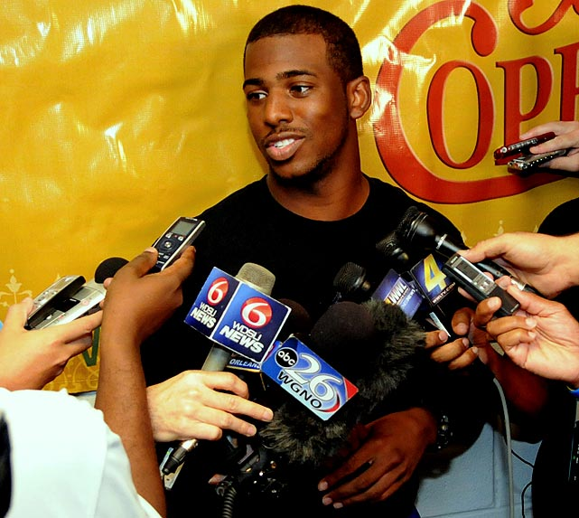 Chris Paul aired his displeasure with the Hornets on many occasions and it came to head in July when it was reported that he wanted to join the Knicks, Magic or Lakers. While at Carmelo Anthony's wedding in New York, he and Amar'e Stoudemire supposedly took interest in the idea of creating their own Big Three in New York. But the Hornets refused to trade Paul, the heart of their team who has two years left on his contract. (They did trade his backup, Darren Collison, for swingman Trevor Ariza.)