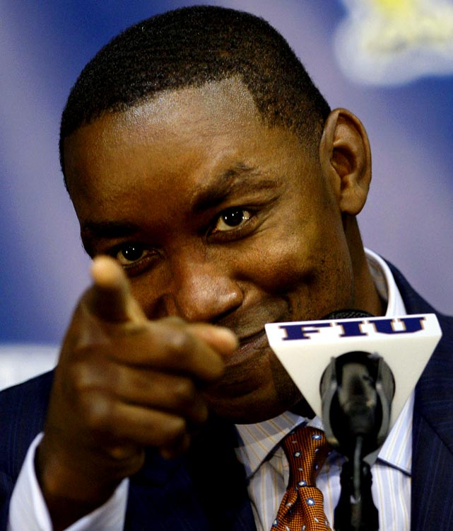 Talk about a New York nightmare. Isiah Thomas, who was blamed for running the Knicks into the ground and inflating their payroll during his stint as team president, agreed to become a consultant for the team ... even though he is the coach at Florida International University. The NBA didn't approve the deal -- the league prohibits anyone who coaches or works for a college program from working for any of the league's 30 teams -- much to the chagrin of James Dolan.