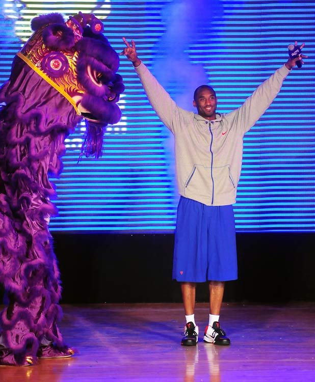 Five-time NBA champion Kobe Bryant also spent time in China for an NBA event.