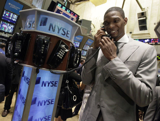 He also rang the opening bell at the New York Stock Exchange.