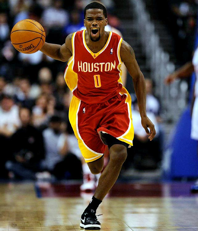 The 2009-2010 Most Improved Player, point guard Aaron Brooks averaged 19.6 points as the undermanned Rockets stayed in playoff contention for much of the season. Interestingly, the Rockets matched a four-year, $24 million sheet to keep Brooks' backup, Kyle Lowry, this summer. The 6-foot Brooks is more streaky scorer than polished playmaker -- is he the right fit alongside high-scoring guard Kevin Martin and Yao Ming if he recovers to the point of being a player who requires a lot of touches?