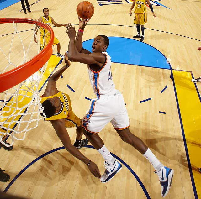 While the Thunder locked up Kevin Durant to an extension as soon as league rules allowed, they have not done the same with their other top-five pick from the 2007 draft, versatile forward Jeff Green. Oklahoma City also has a negotiation with electrifying point guard Russell Westbrook on the horizon. Paying Durant was a no-brainer, but GM Sam Presti and Co. will face more difficult decisions soon enough.