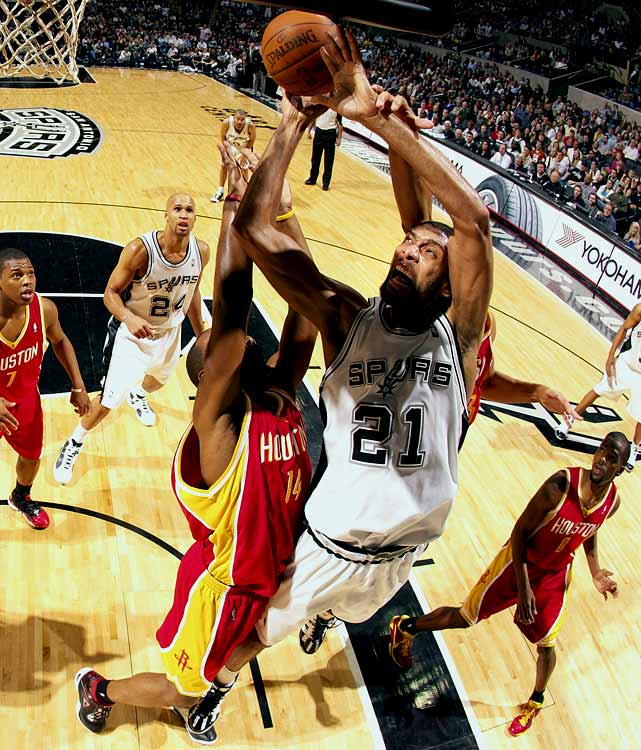 It's hard to envision the 34-year-old Tim Duncan's playing for any team than the one he's led to four championships and the league's best record since he arrived in the NBA in 1997. Duncan hasn't been on the market since 2000, when he flirted with signing with the Magic before re-upping with San Antonio; the Magic ended up with Tracy McGrady and Grant Hill that summer.