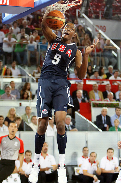 USA Basketball's roster for the FIBA World Championship is set. Led by Hall of Fame head coach Mike Krzyzewski and USA Basketball boss Jerry Colangelo, the Americans are out to strike gold at the Worlds for the first time in 16 years. Here's a look at the 12 guys representing the U.S.   Kevin Durant, the Oklahoma City Thunder's star forward, is the face of Team USA for this summer. Whether the 21-year-old can emerge as the team's vocal leader remains to be seen, but his play certainly isn't a concern: In recent exhibition games against Lithuania and Spain, he led the team in scoring in both and blocked two, last-minute shots in the latter for an 86-85 win.