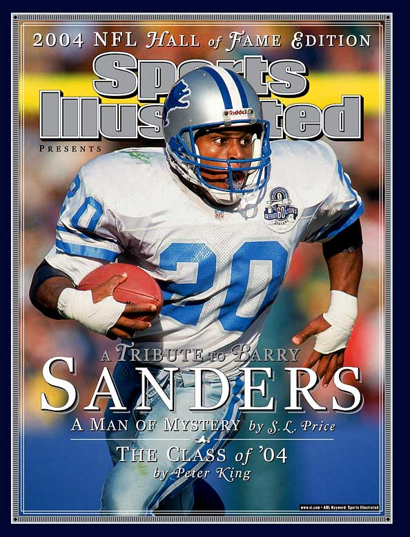 An electrifying runner whose uncanny ability to cut back often made defenders feel like Wile E. Coyote, Sanders was the first player to rush for 1,000 yards in his first 10 seasons. He led the NFL in rushing four times.    Runner-up: Ed Reed  Worthy of consideration: Lem Barney, Ronde Barber, Cliff Battles, Gino Cappelletti, Joe Cribbs, Brian Dawkins, Mel Renfro, Louis Wright