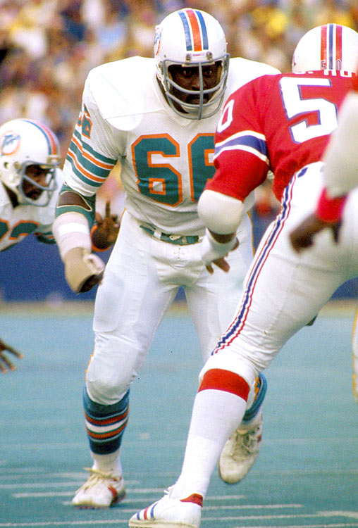 After signing with the San Diego Chargers in 1967 as a free agent out of Bethune-Cookman, Little was traded to the Miami Dolphins. In Miami, Little fashioned a Hall of Fame career at the right guard position, battling through numerous leg injuries to stay on the field and become a first-team All-Pro every season from 1971 to 1975.