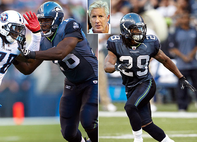 One of the most active teams this offseason, the Seahawks have spent the past six months reshaping a roster with a thin secondary and no rushing attack.  In the draft, the Seahawks added tackle Russell Okung (left), who should be able to clear the way for newly acquired Leon Washington.  For the secondary Seattle was also able to add the freakish athletic ability of free safety Earl Thomas (right) via the draft.  With rookie head coach Pete Carroll also on board, hope springs eternal in Seattle.