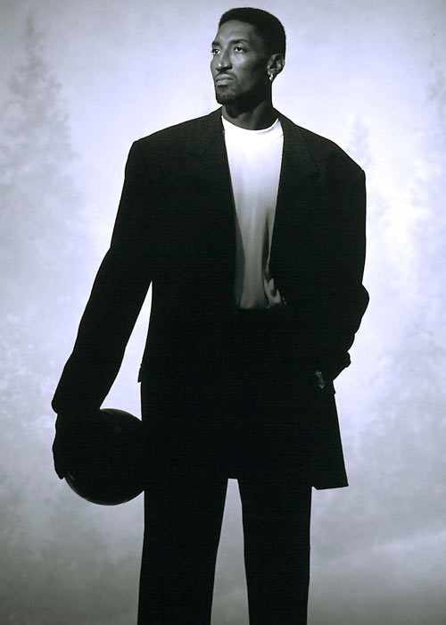 Pippen strikes a pose during an SI photo shoot in Portland.