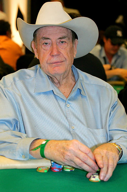 Card shark Doyle Brunson (pictured) has taken home 10 World Series of Poker bracelets and was the first poker player to take home $1 million in tournament winnings. Johnny Chan is tied for second most WSOP bracelets with Brunson (10) behind Phil Helmuth (11).
