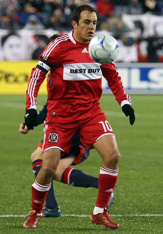 The oft-controversial El Tri playmaker joined MLS in 2007 and was a finalist for MVP in 2007. Finished his career with the Fire in '09 with 16 goals in 62 appearances.