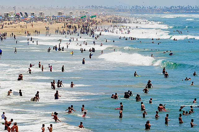 "Huntington Beach is called ""Surf City"" for a reason.  The center of OC features consistent surf every day of the year and plenty of surfers, bodyboarders and bodysurfers. Any future stars out there?"