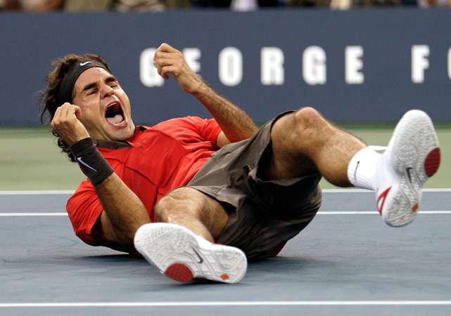 In the first Monday final since 1987, Roger Federer defeats Andy Murray 6-2, 7-5, 6-2. The victory is the fifth consecutive U.S. Open title for Federer, an Open Era record (for a man or woman) at the U.S. Open. The five titles tie Jimmy Connors and Pete Sampras for the most by a man at the U.S. Open in the Open Era.