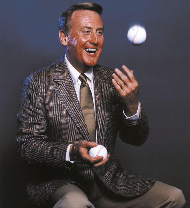 Though his first love is baseball, Scully has also broadcast tennis, golf and football. He was behind the mic for one of the NFL's most famous plays, the Joe Montana to Dwight Clark touchdown pass during the fourth quarter of the 1982 NFC Championship game.