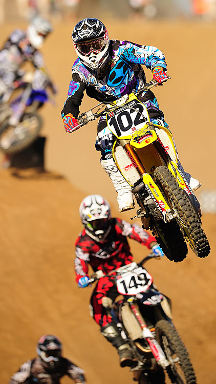 Another shot of the Moto X Super X. Josh Grant was the men's gold-medal winner, while Ashley Fiolek captured the women's crown.