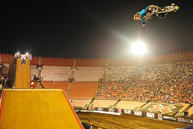 Rob Lorifice received a bronze medal in the skateboard big air competition.