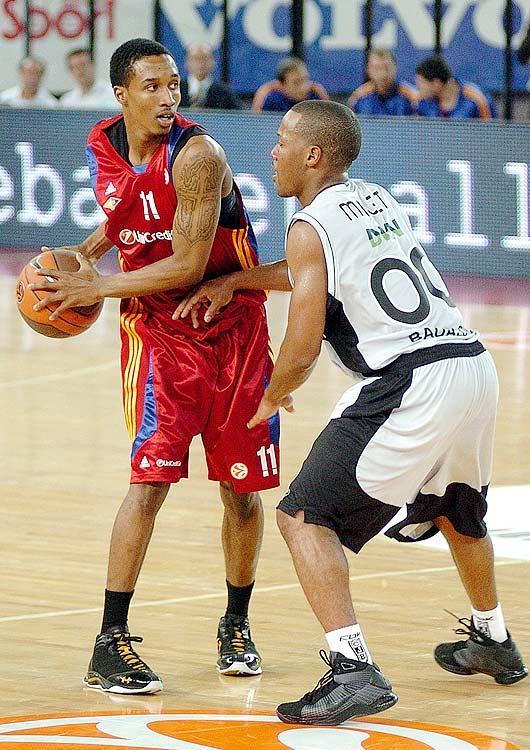 The rare example of a U.S.-born player going overseas before the NBA, in 2008 Brandon Jennings announced that he would skip college to play professionally in Europe. He thought the money and experience provided by playing overseas would better prepare him for the NBA. Unfortunately, it wasn't that easy.  Jennings experienced his share of growing pains, while averaging 7.6 points, 1.6 rebounds and 1.6 assists in limited minutes for Pallacanestro Virtus Roma. The experience paid off however, as Jennings have been fantastic in his short NBA career.