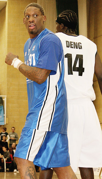 During the 2005-06 season, Dennis Rodman made a circuitous comeback tour with the hope of finding a spot on a NBA roster. His return to the NBA never materialized but he did span the globe, including stops in Finland and England. In Finland for a wife-carrying contest, Rodman signed a one-game contract with Torpan Pojat. He finished with 17 points before a league-record crowd of 7,420. In England, Rodman signed a one-game deal with the Brighton Bears. He scored four points, and went on to play three games total with the Bears.