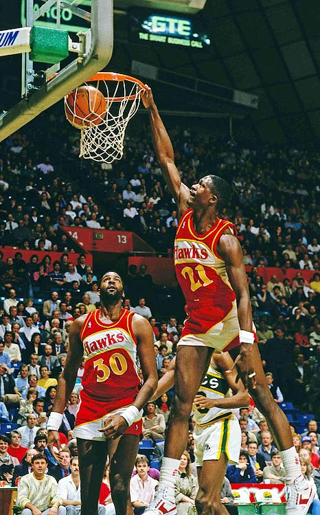 One of the best dunkers in NBA history, Dominique Wilkins was also one of its most intrepid travelers. In 1995, he joined Greek team Panathinaikos BC, with whom he averaged a robust 20.9 points and seven rebounds per game before returning to the NBA for the 1996-97 season. Though he led the San Antonio Spurs in scoring that season, he opted yet again to play in Europe, this time with Teamsystem Bologna for the 1997-98 season.