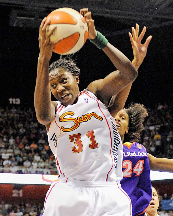 During her rookie campaign with the Connecticut Sun Tina Charles was named WNBA Rookie of the Year, and set the single-season record for rebounds (398) and double-doubles (22).