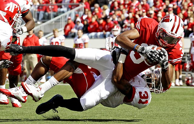 Wisconsin barely survived Arizona State in Week 3. The Badgers had no such trouble this week, crushing overmatched Austin Peay. Despite being without injured wide receivers Nick Toon and David Gilreath, Wisconsin scored 49 first-half points and posted its highest points total of the modern era.