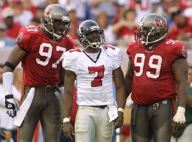 Upon entering the NFL, Vick quickly frustrated defenses with his speed and throwing ability. In 2002, his first full season as the Falcon's QB, Vick threw for 2,936 yards with 16 touchdowns while gaining 777 yards on the ground.